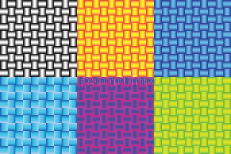 Set bezszwowi gradient drymby wzory ilustracja wektor