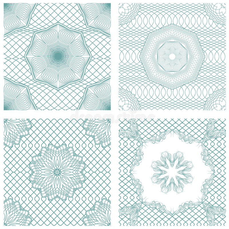 Set bezszwowi wzory - Giloszuje ornamentacyjnych elementy ilustracja wektor