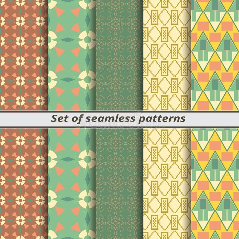Set bezszwowi wzory w amerykanina stylu royalty ilustracja