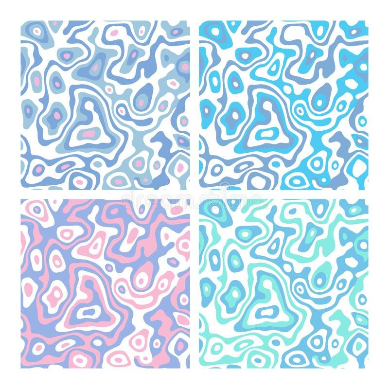 Set bezszwowy zebry natura ilustracji