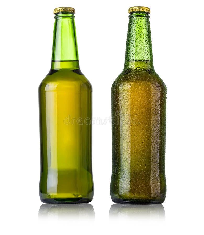 Set Bierflaschen stockbilder