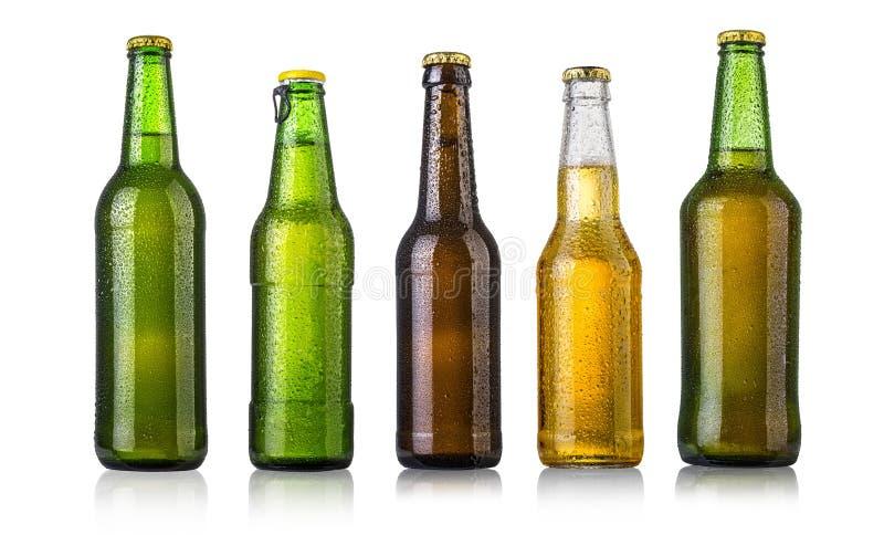 Set Bierflaschen stockbild