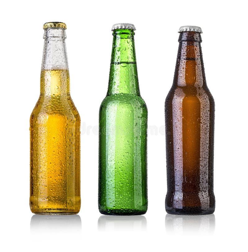 Set Bierflaschen lizenzfreie stockbilder