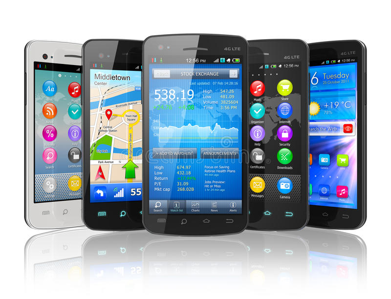 Set Bildschirm- smartphones