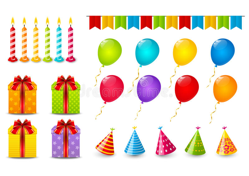 Download Set of Birthday objects stock vector. Illustration of event - 41893151