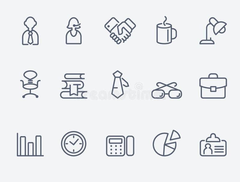 Set 15 biurowych ikon ilustracja wektor