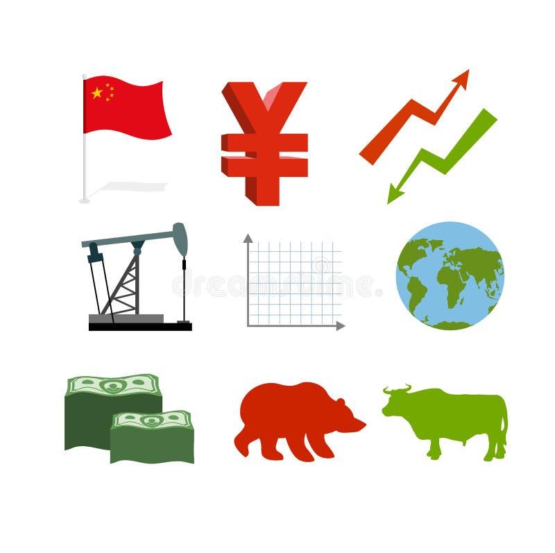 Set biznesowe grafika ilustracji