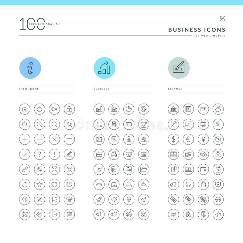 Set biznesowe ikony ilustracja wektor