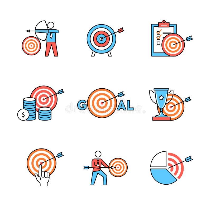 Set biznesowe metafory ilustracji