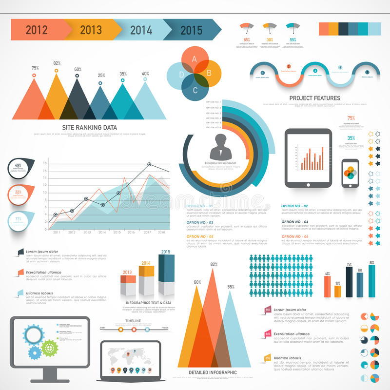 Set biznesowi infographic elementy royalty ilustracja