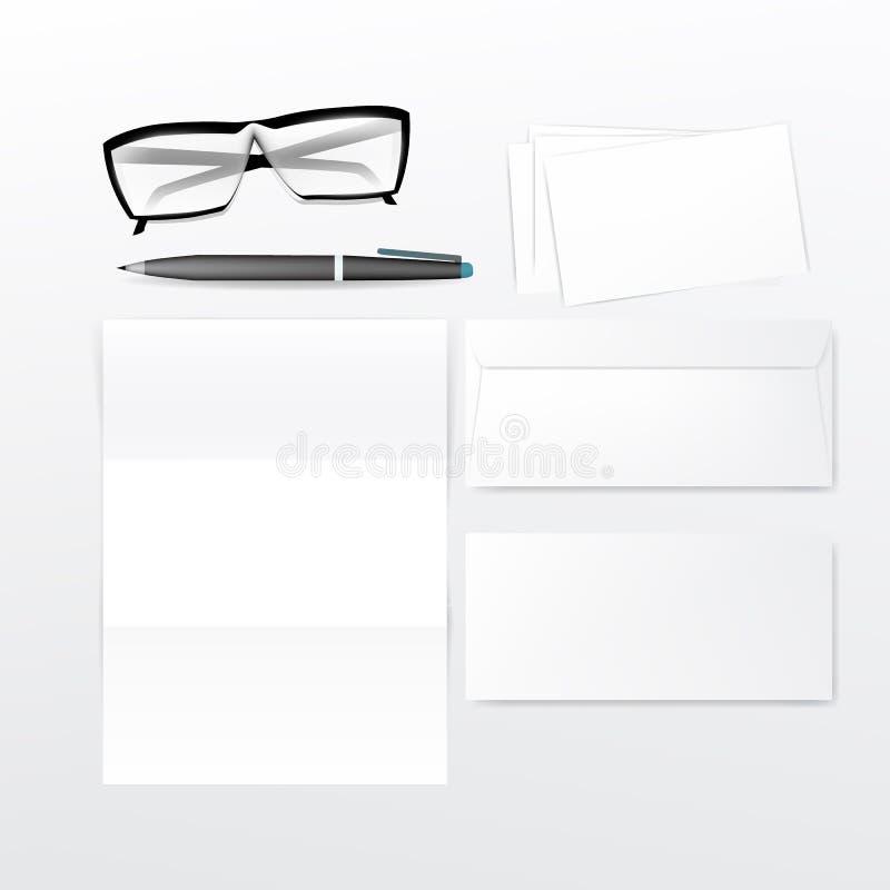 Set biznesowi lub biurowi materiały ilustracji