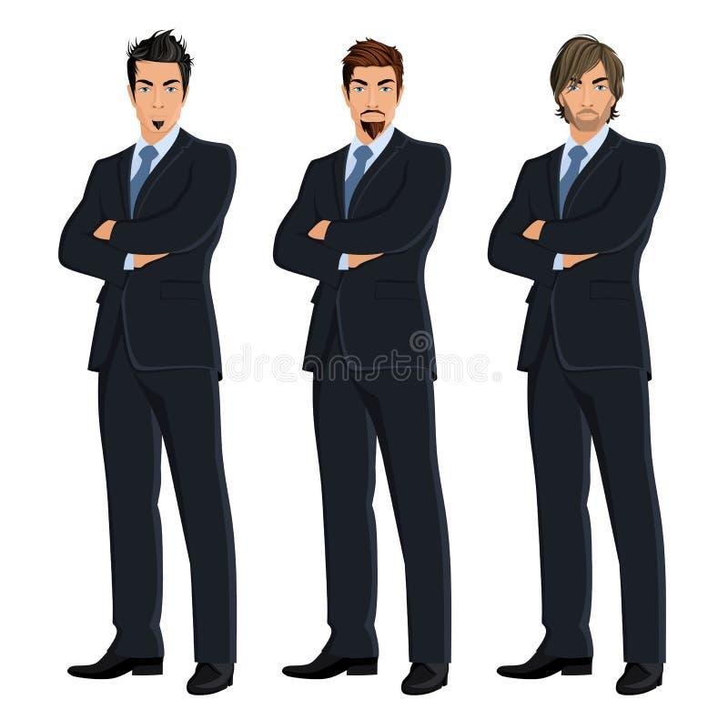Set biznesowi mężczyzna ilustracji