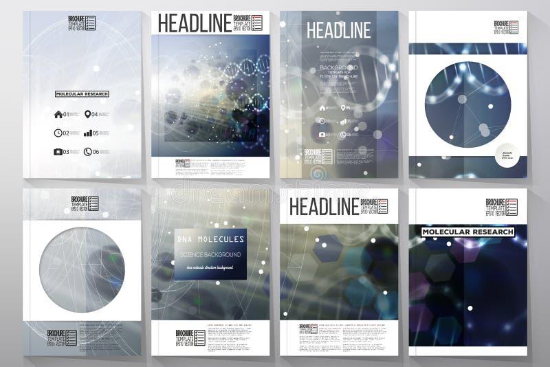 Set biznesowi szablony dla broszurki, ulotka lub royalty ilustracja