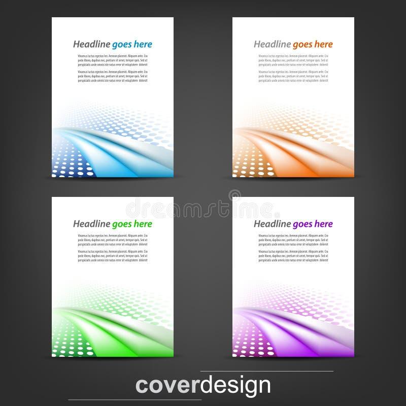 Set biznesowy ulotka szablon, korporacyjny sztandar lub okładkowy projekt, ilustracja wektor