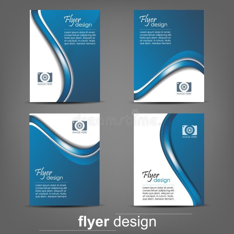 Set biznesowy ulotka szablon, korporacyjny sztandar lub okładkowy projekt, royalty ilustracja