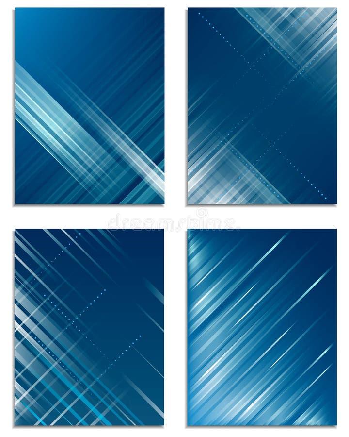 Set biznesowy ulotka szablon, korporacyjny sztandar, okładkowy projekt royalty ilustracja
