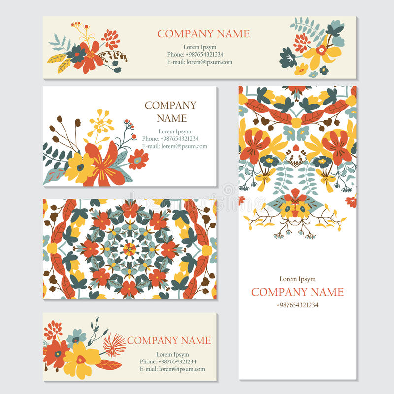 Set biznesu lub zaproszenia kart szablony ilustracji