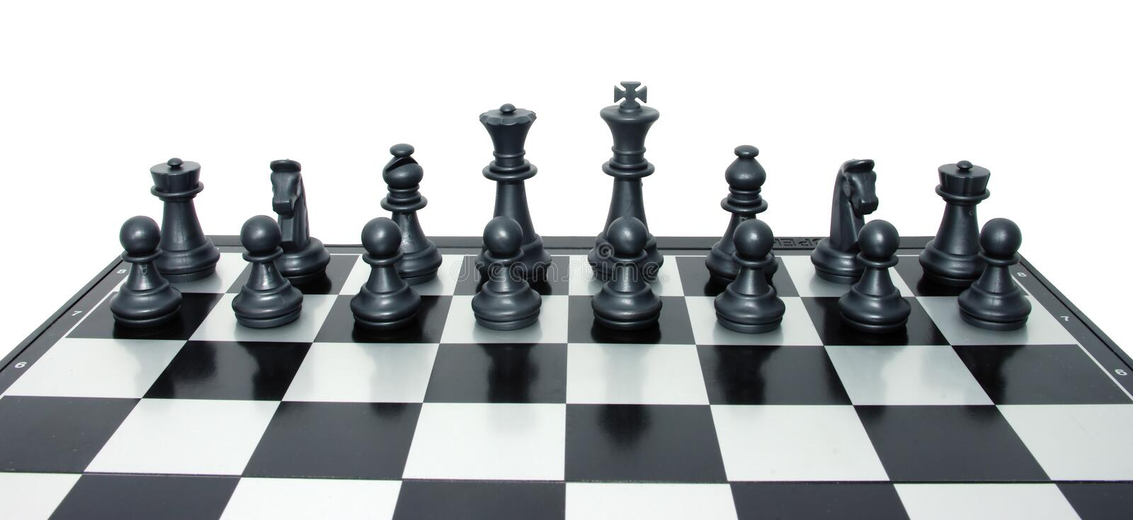 Download Set Of Black Chess Ready To Fight Royalty Free Stock Photo - Image: 14940465