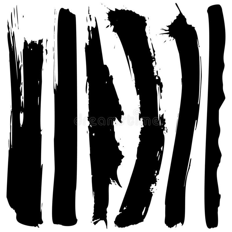 Set of black grunge ink blobs - vector. Set of vector black grunge ink blobs. Can be used for decorate of card, web design background, book cover. Isolated on vector illustration