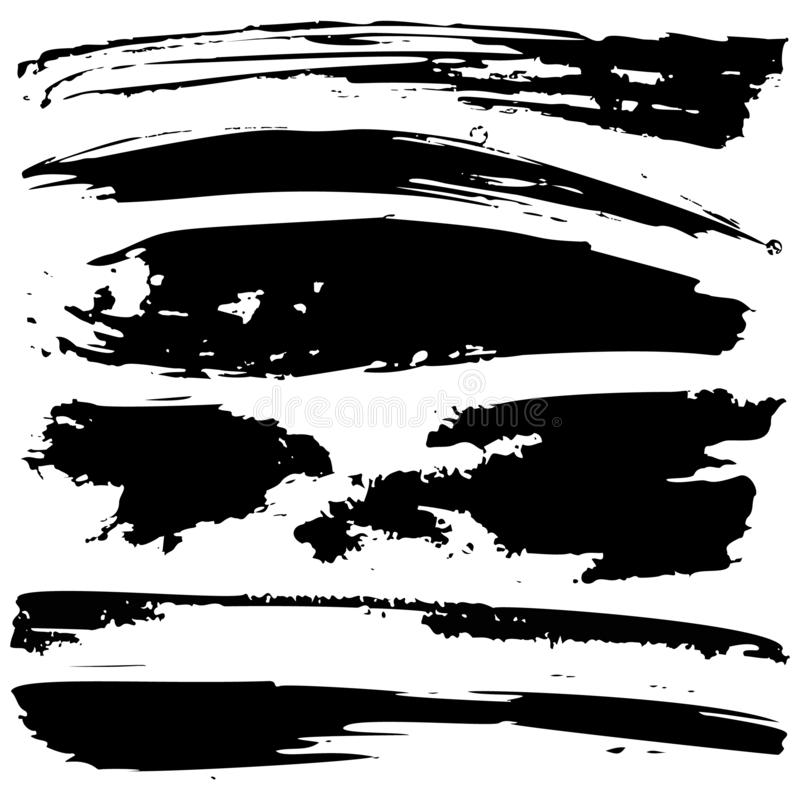 Set of black grunge ink blobs - vector. Set of vector black grunge ink blobs. Can be used for decorate of card, web design background, book cover. Isolated on royalty free illustration