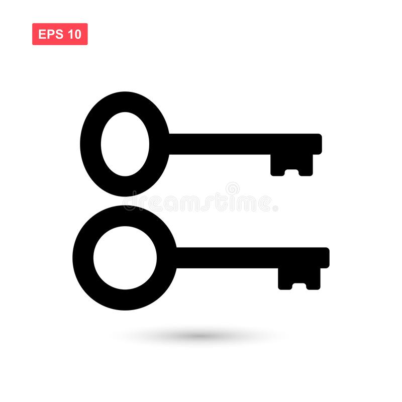 Set of black key icon vector isolated 2 vector illustration