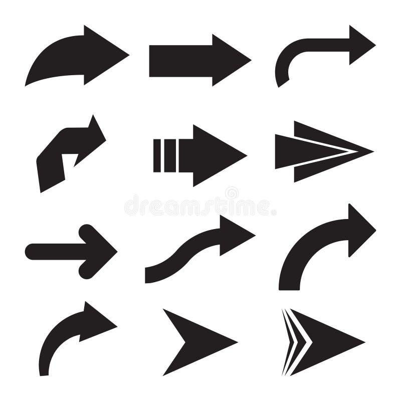 set of black vector arrows arrow icon arrow vector icon arrow rh dreamstime com vector arrows physics vector arrows free download