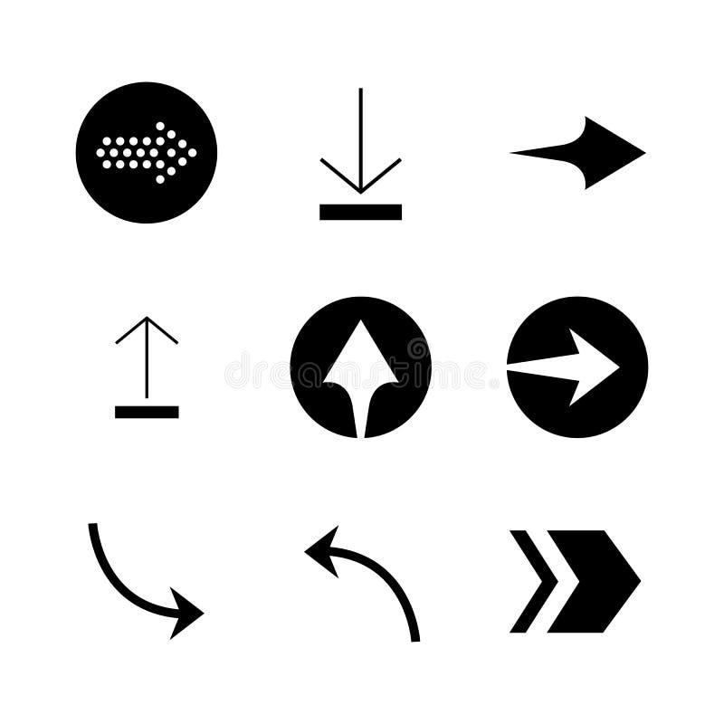 Set of black vector arrows. Arrow icon. Arrow vector icon. Arrow. Arrows vector collection vector illustration