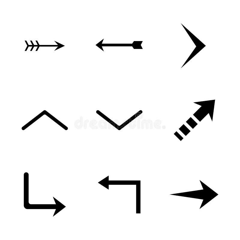 Set of black vector arrows. Arrow icon. Arrow vector icon. Arrow. Arrows vector collection royalty free illustration