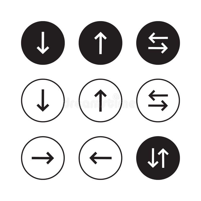Set of black vector arrows. Arrow icon. Arrow vector icon. Arrow. Arrows vector collection stock illustration
