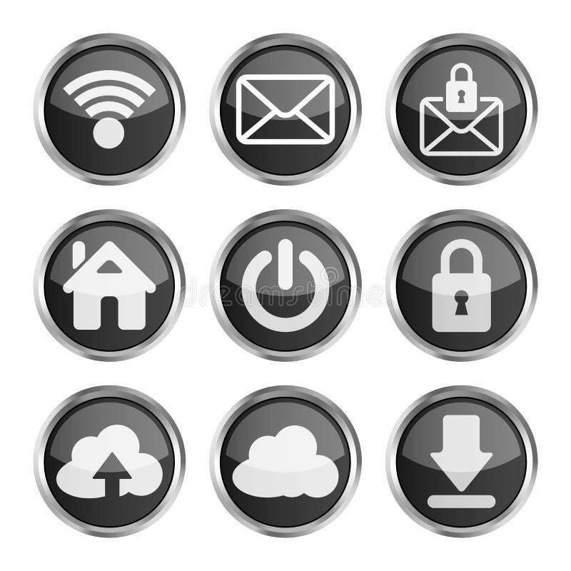 Set Of Black Web Icons Royalty Free Stock Image