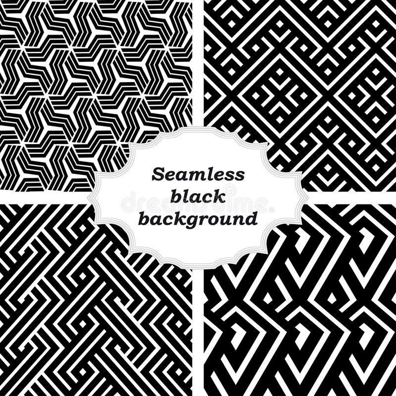 Download Set Of Black And White Patterns Stock Vector - Image: 35375520