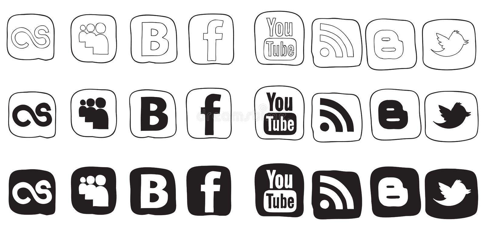Download Set Black And White Vector Icons Editorial Stock Image - Image: 25857009