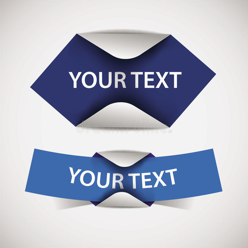 Set of blank blue vector labels