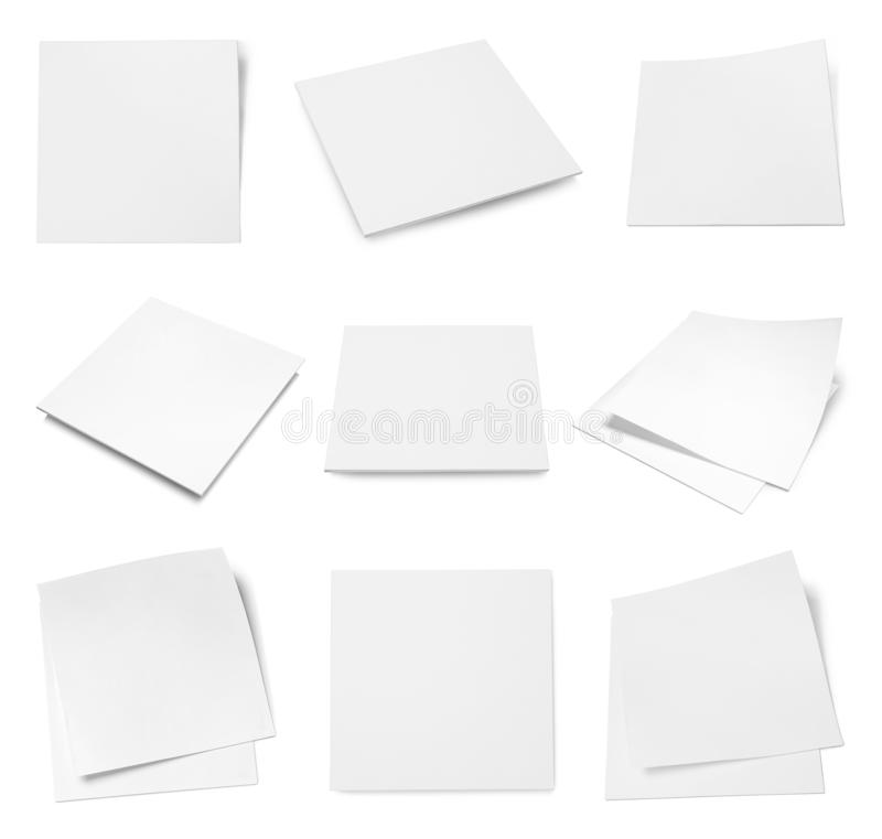 Set of blank brochures on white background.  up for design. Set of blank brochures on white background. Mock up for design royalty free stock photo