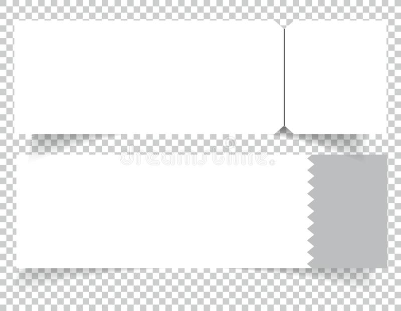 Set Of Blank Event Concert Ticket Mockup Template. Concert, Party Or ...