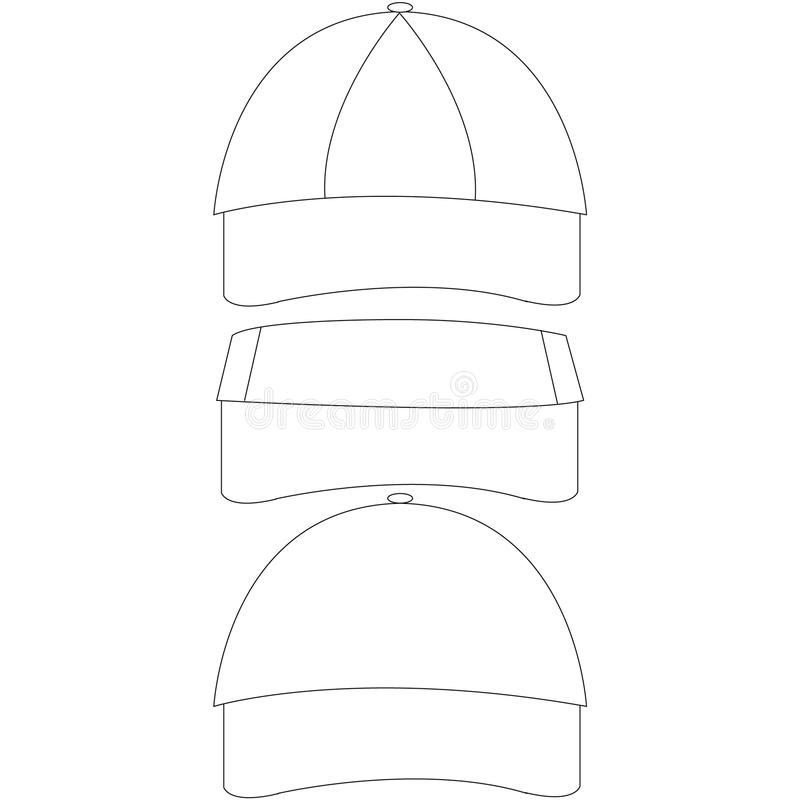 Set of Blank Hat Templates stock vector. Illustration of template ...