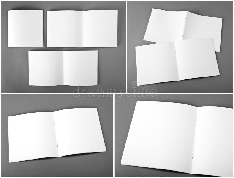 Set of blank magazine, catalog, brochure, magazines, book on gray background. Set of blank magazine, catalog, brochure, magazines, book on gray background royalty free stock photos
