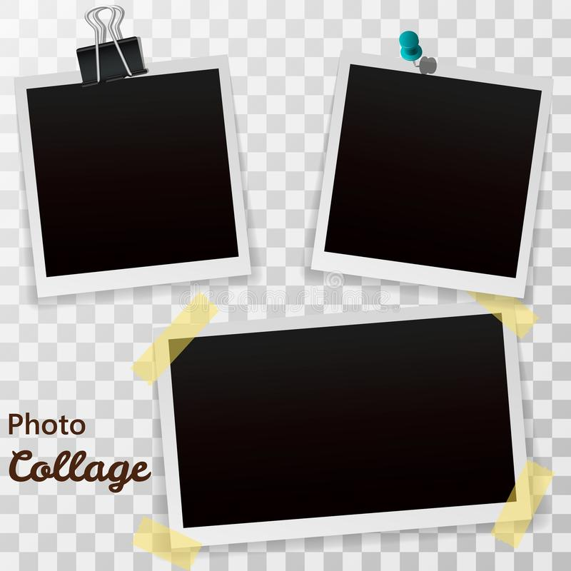 Polaroid Print Template With Shadow Stock Illustration