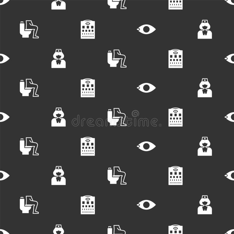 Set Blindness Nurse Constipation And Eye Test Chart On Seamless Pattern Vector Stock Vector Illustration Of Bathroom Pain 199030625