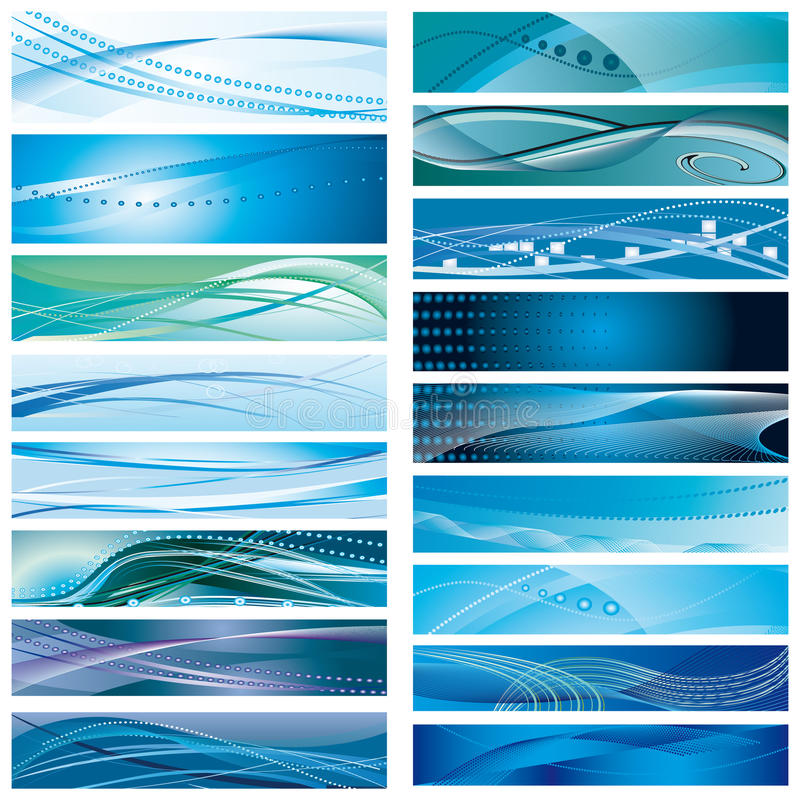 A set of blue background stock photo