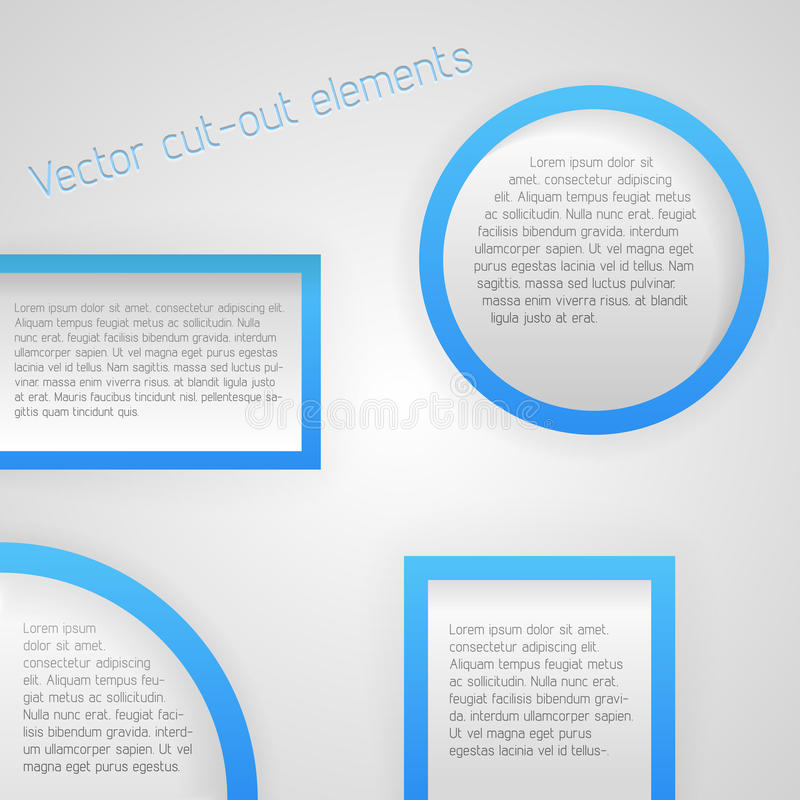 Download Set of cut-out elements stock vector. Illustration of gradient - 30291007