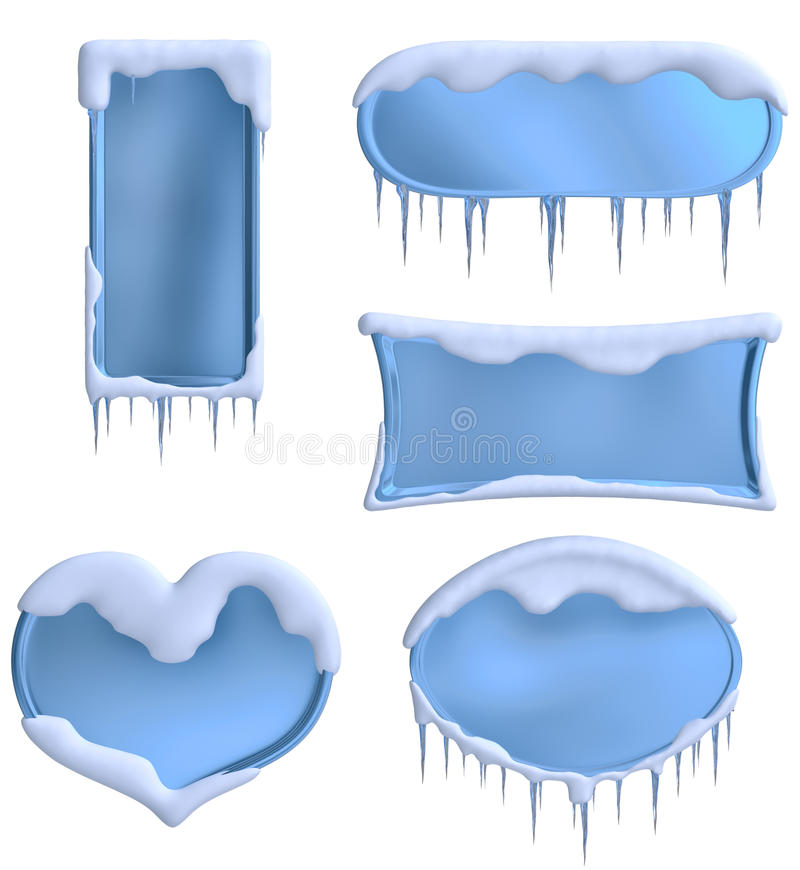 Set of blue frames vector illustration