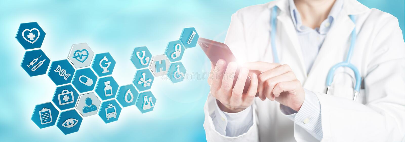 Concept of modern health care stock photo
