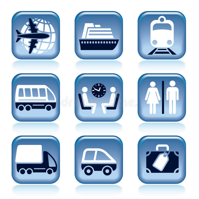 Download Travel icons stock vector. Image of passenger, drive - 30041128