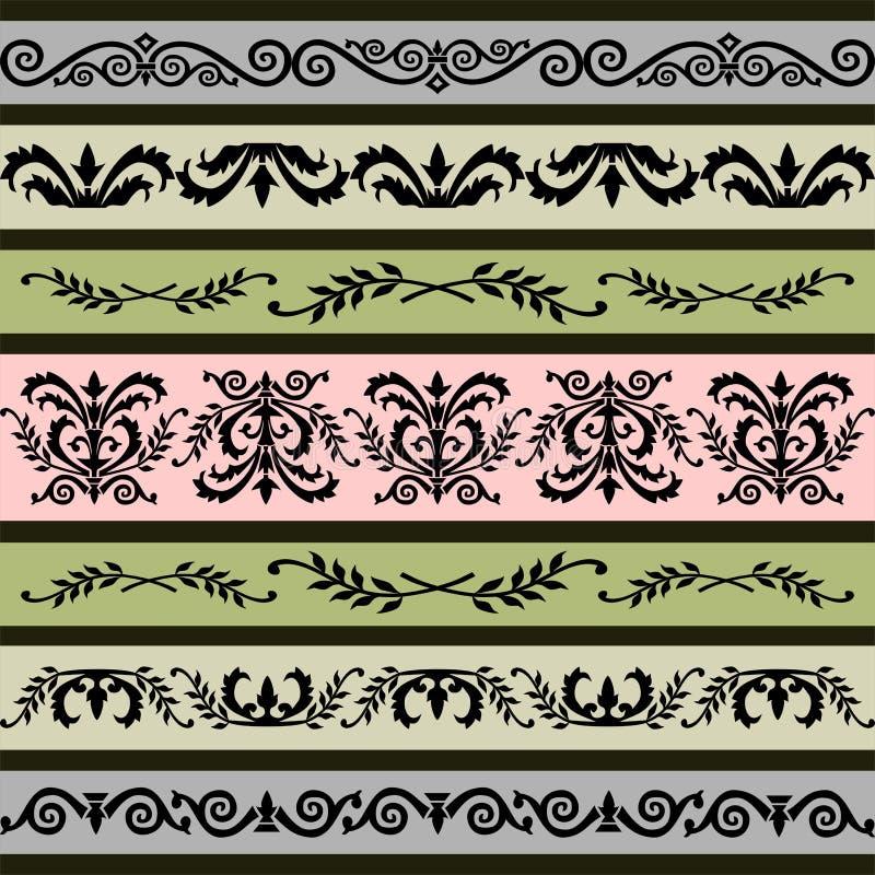 Set Blumenvektorränder vektor abbildung