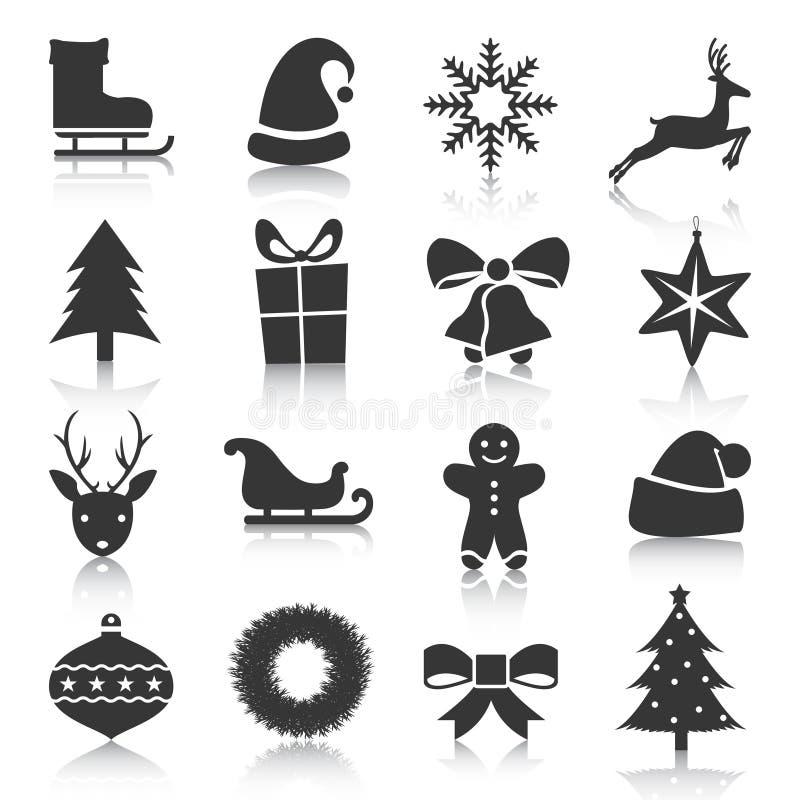 Set boże narodzenia, nowy rok ikony również zwrócić corel ilustracji wektora royalty ilustracja
