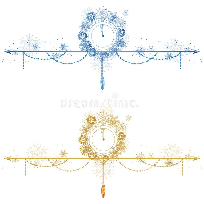 Set Bożenarodzeniowi dividers ilustracja wektor