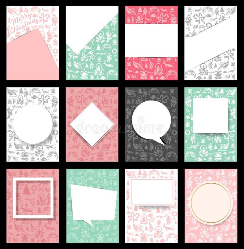 Set Bożenarodzeniowy broszurki tło w a4 rozmiarze ilustracji