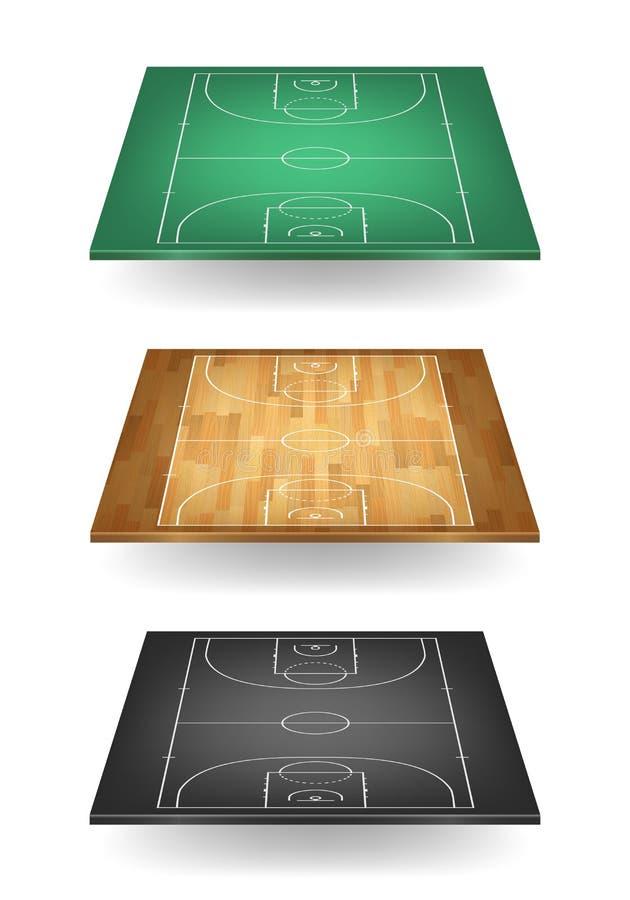 Download Set Boisko Do Koszykówki W Różnych Colours Ilustracja Wektor - Ilustracja złożonej z plan, greenbacks: 53793510