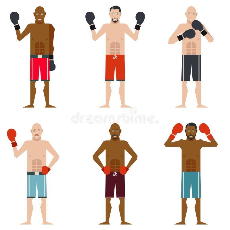 Set boksery ilustracji